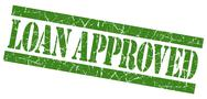 Stock Illustration of loan approved grunge green stamp