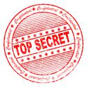 Stock Illustration of grunge top secret rubber stamp