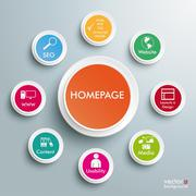 Homepage infographic Stock Illustration