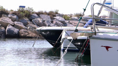 Small port in camargue Stock Footage