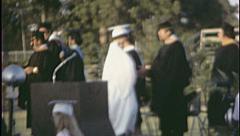 Diploma HIGH SCHOOL GRADUATION Ceremony 1960 Vintage Film Home Movie 7550 Stock Footage