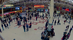 Top view 4k timelapse of commuters Stock Footage