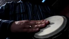 Stock Video Footage of Mini djembe playing