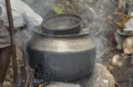 Stock Photo of metal cooking pot