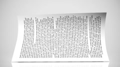 Pages of a book. Stock Footage
