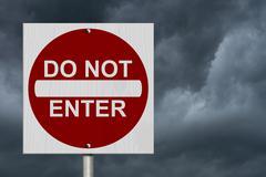 do not enter sign - stock illustration