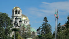 Full 1080p HD video of the Alexander Nevsky Cathedral in Sofia, Bulgaria Stock Footage