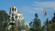 Stock Video Footage of Full 1080p HD video of the Alexander Nevsky Cathedral in Sofia, Bulgaria