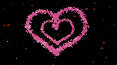 Two Pink Hearts Stock Footage