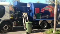 Garbage Truck Stock Footage