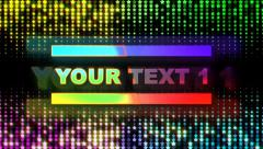 Stock After Effects of Retro 80s. Text