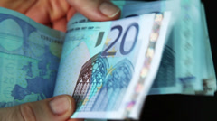 european currency - stock footage
