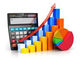 Stock Illustration of Financial success and accounting concept