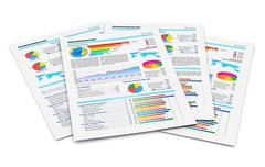 Financial reports Stock Photos