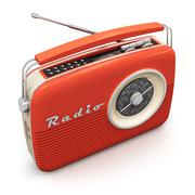 Vintage radio - stock illustration