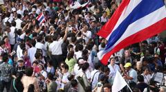 Demonstration in Bangkok Stock Footage