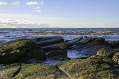 Rocky shoreline Stock Photos
