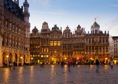 Grote markt town square, brusseles Stock Photos