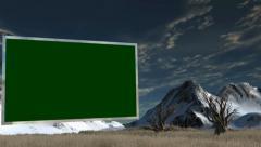 Savanna with Flat TV Green Screen - Virtual Studio Background Stock Footage