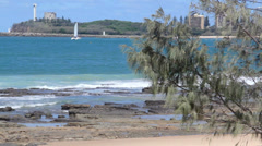 Point Cartwright At Mooloolaba Stock Footage