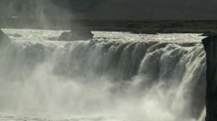 Spectacular godafoss waterfall in iceland closeup Stock Footage