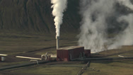 Stock Video Footage of central heating manifold and steam pipework in iceland