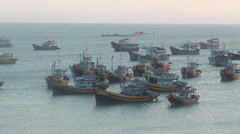 Mui Ne Fishing Boats Stock Footage