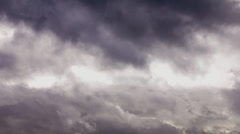 Bad weather. Dark storm clouds gathering Stock Footage
