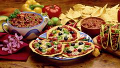 Gourmet Mexican food, - stock footage