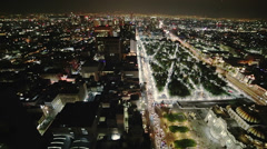 Aerial shot of Mexico city by night Stock Footage