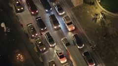 Aerial shot of traffic jam Stock Footage