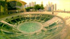 Rain Oculus in Singapore Stock Footage