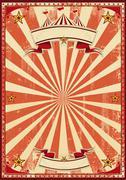 red circus retro - stock illustration