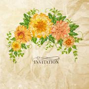 Stock Illustration of Chrysanthemum garland.