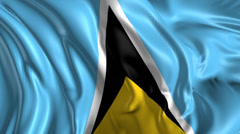 Flag of Saint Lucia Stock Footage