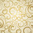 Stock Illustration of Golden abstract pattern on sepia background.