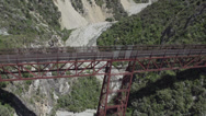 Stock Video Footage of aerial view of a bridge