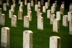 Gettysburg Cemetery Headstones - stock photo