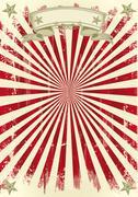 vintage red sunbeams - stock illustration