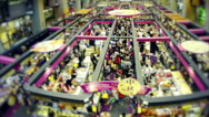 Stock Video Footage of Singapore Market Time Lapse