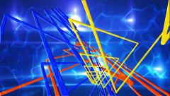 Spinning Triangle Lights Abstract Background for use with music videos Stock Footage