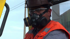Working with safety equipment Stock Footage