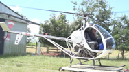 Stock Video Footage of Helicopter Taking Off