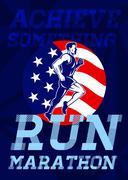 Stock Illustration of american marathon achieve something poster.