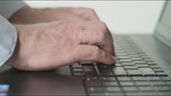 Stock Video Footage of Male Laptop Typing