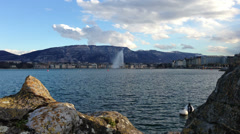 Lake geneva Jet D'eau Stock Footage