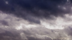 Bad weather. Dark storm clouds gathering - stock footage