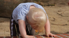 Baby Playing On Playground (People) Stock Footage