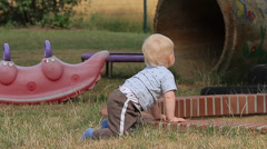 Curious Baby Watching (People) Stock Footage