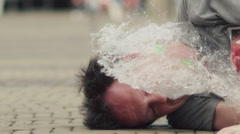 water balloon slowmotion - stock footage